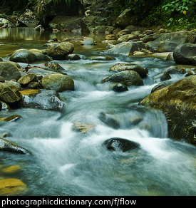 Photo of flowing water