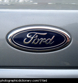Photo of a ford badge