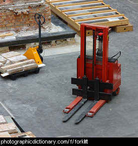 Photo of a forklift