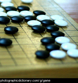 Photo of a game of go