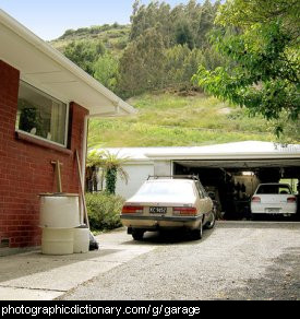 Photo of a garage