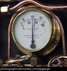 Photo of an old pressure guage