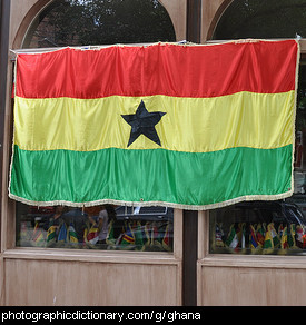 Photo of the Ghana flag