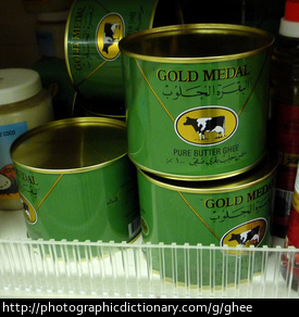 Cans of ghee.