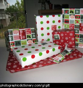Photo of wrapped gifts