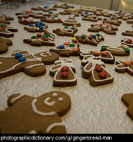 Photo of gingerbread cookies.