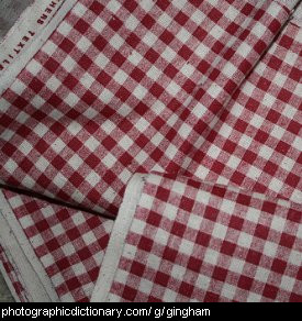 Photo of gingham fabric
