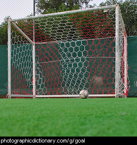 Photo of a soccer goal
