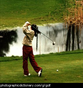 Photo of a golfer
