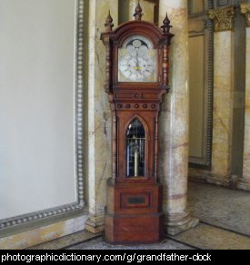 Photo of a grandfather clock.