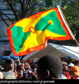 Photo of the grenada flag