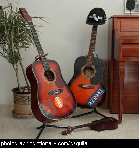 Photo of two guitars
