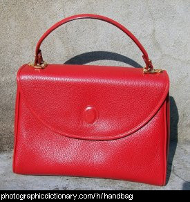 Photo of a red handbag