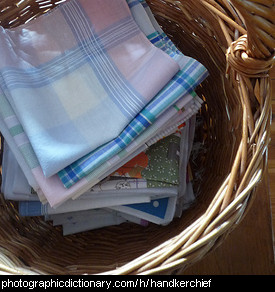 Photo of a basket of hankerchiefs