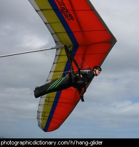 Photo of a hangglider