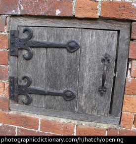 Photo of a wooden hatch