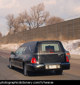 Photo of a hearse