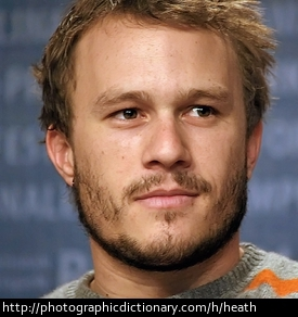 Actor Heath Ledger.