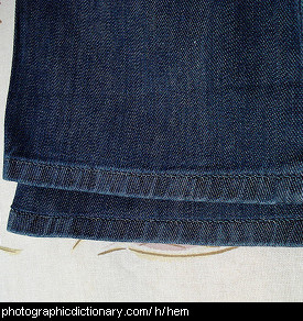 Photo of jeans hem