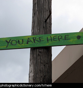 Photo of a you are here sign