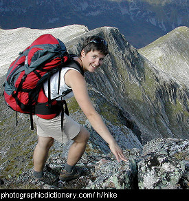 Photo of a woman hiking