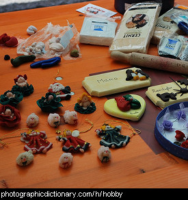 Photo of clay models