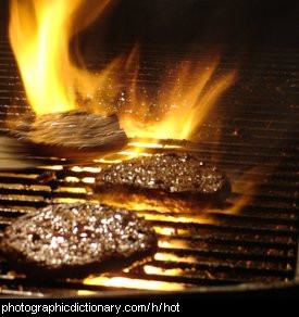 Photo of a hot grill