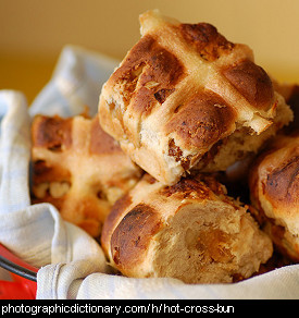 Photo of hot cross buns