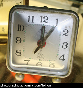Photo of a clock showing one o'clock