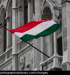 Photo of a Hungarian flag