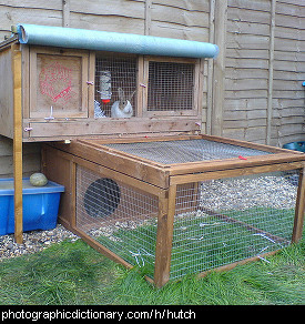 Photo of a rabbit hutch