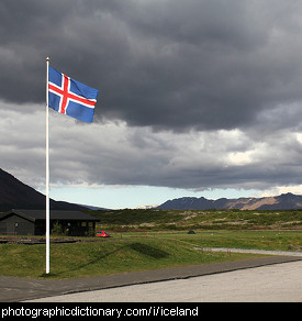 Photo of an Icelandic flag