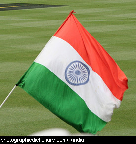 Photo of an Indian flag