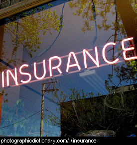 Photo of a sign that says insurance