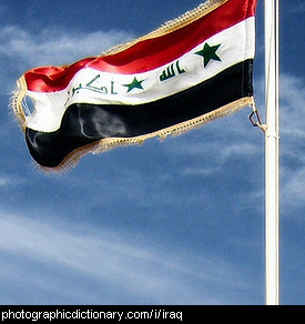 Photo of the Iraqi flag