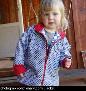 Photo of a little girl wearing a jacket