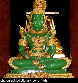 Photo of a jade statue