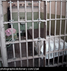 Photo of a jail cell