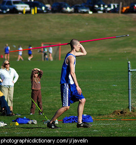 Photo of a man with a javelin