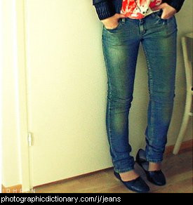 Photo of a woman wearing jeans