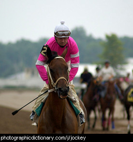 Photo of a jockey