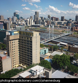 Photo of the Johannesburg skyline