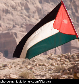 Photo of the Jordan flag