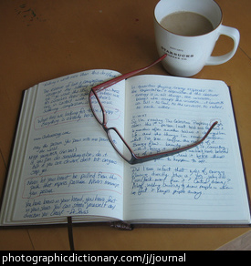 Photo of a journal