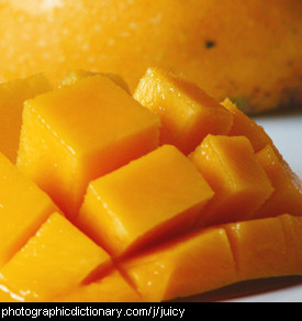 Photo of a juicy mango