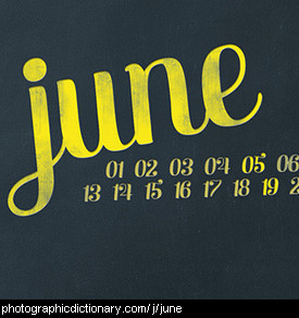 Photo of a calendar that says June