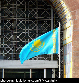 Photo of the Kazakhstan flag