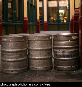 Photo of beer kegs