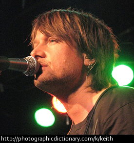 Singer Keith Urban.