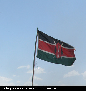 Photo of the Kenyan flag